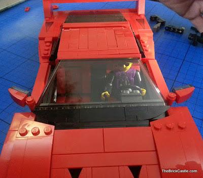 Technic man driving Ferrari F40 LEGO