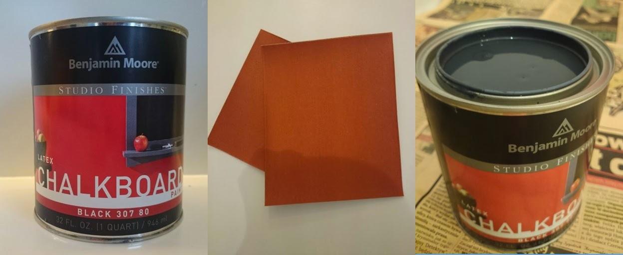 Farba tablicowa Benjamina Moora i papier ścierny