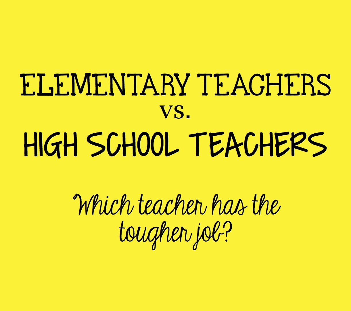 elementary life vs high school life I have heard adults tell me that high school is going to be the best four years of my life so far, they are right i am so grateful for the opportunity to experience a public high school.