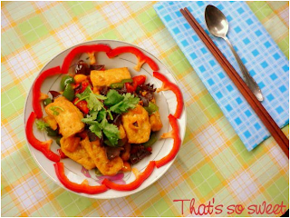 Nấu ăn chay với món Đậu phụ xào mộc nhĩ, ớt chuông