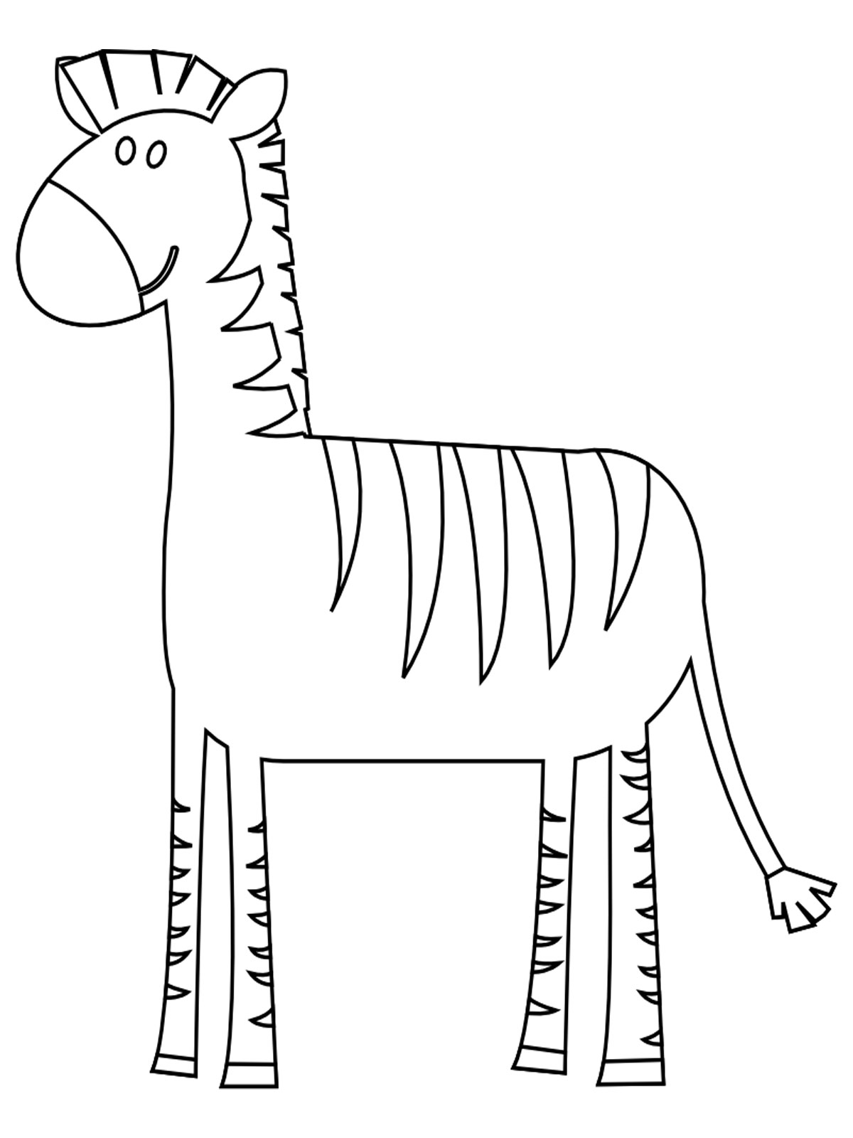 Free Realistic Zebra Coloring Pages