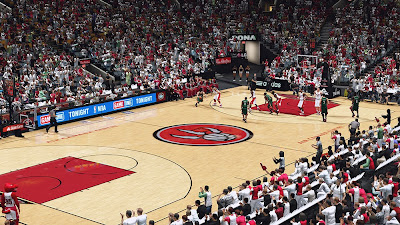 NBA 2K14 Toronto Raptors Court Mod