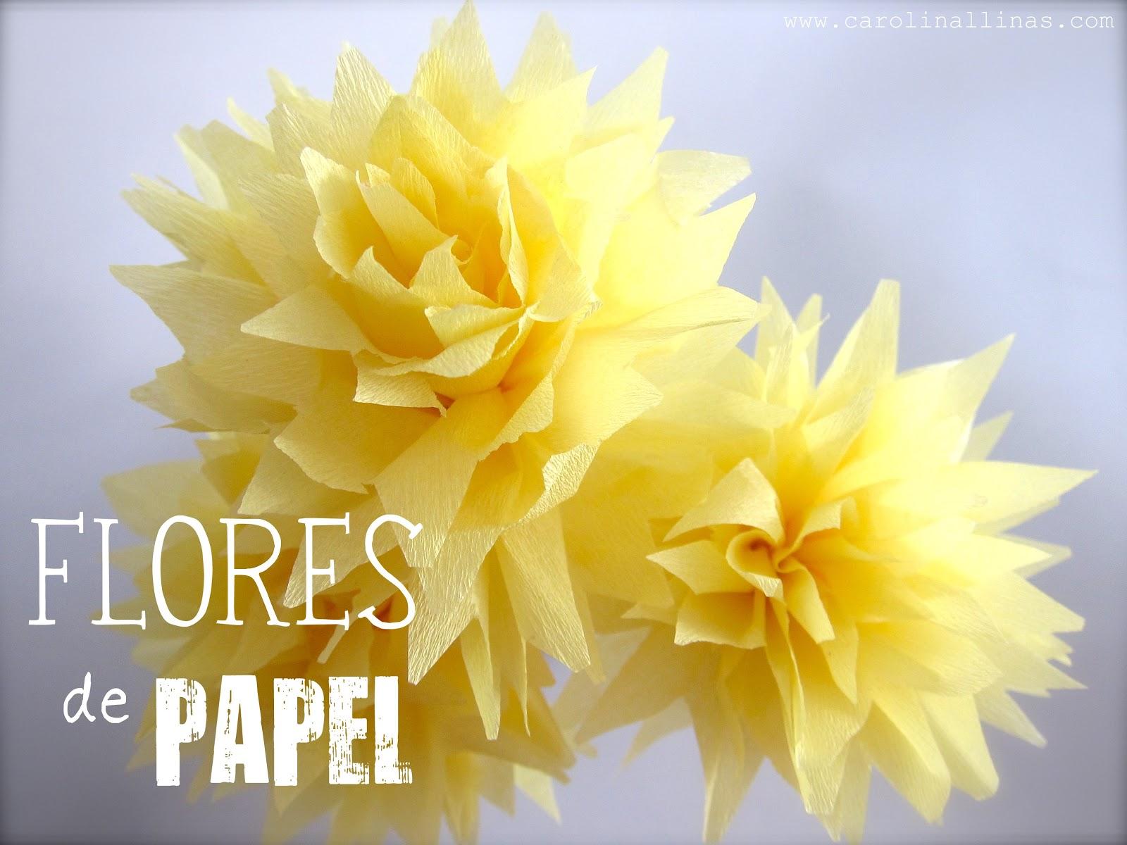Flores en papel crepe como se hacen imagui - Como se hacen flores de papel ...
