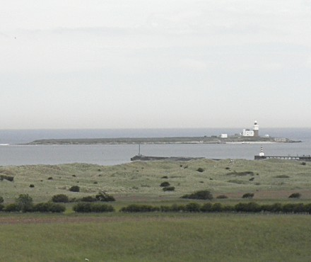 Coquet Island, Northumberland viewed from Warkworth Castle