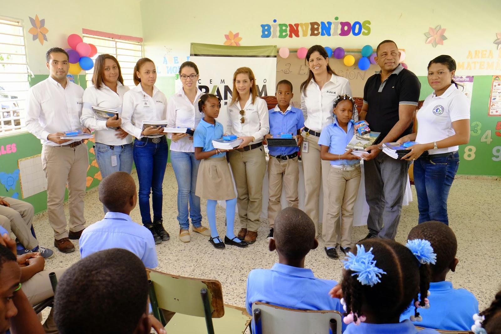 Fundación de Estrella  y Cemento PANAM entregan útiles escolares en comunidades de Los Llanos
