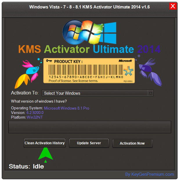 Windows Vista-7-8-8.1 KMS Activator Ultimate 2014