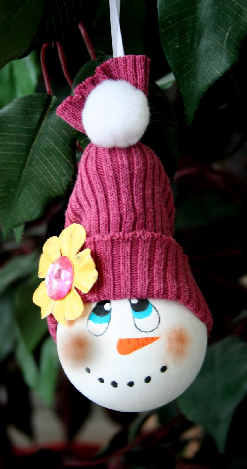 http://www.squidoo.com/how-to-make-a-snowman-ornament-from-a-recycled-light-bulb-30895