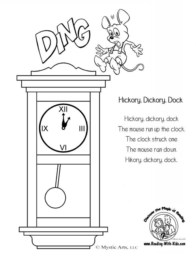 nursery rhyme coloring pages - photo#27