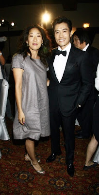 Sandra Oh and Lee Byung-Hun at the East Korean Film Festival