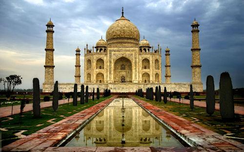 Palacio Taj-Mahal en la India