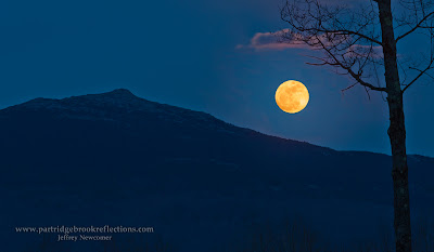 Mount Monadnock Moonrise, Marlborough, New Hampshire