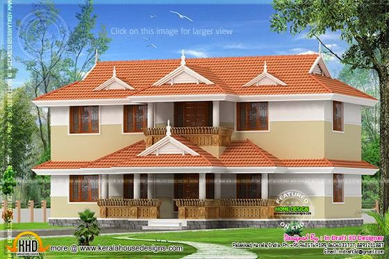 Kerala Home Plans with Courtyard