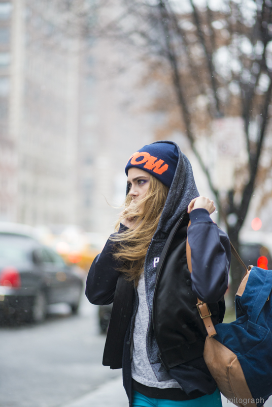 Cara Delevingne After Jason Wu New York Fashion Week 2013-2014 Fall Winter NYFW Street Style Shimpei Mito