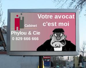 Pancarte publicitaire pour les cabinets d'avocat