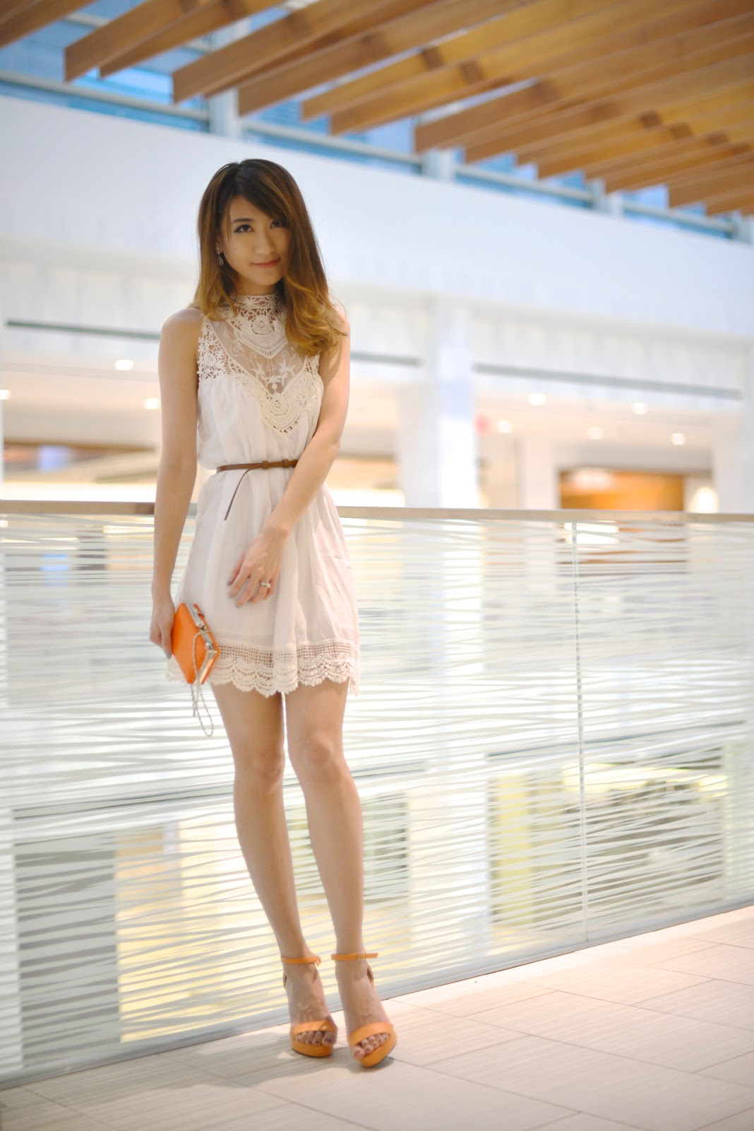 Lace Chiffon Mini Dress LookbookStore