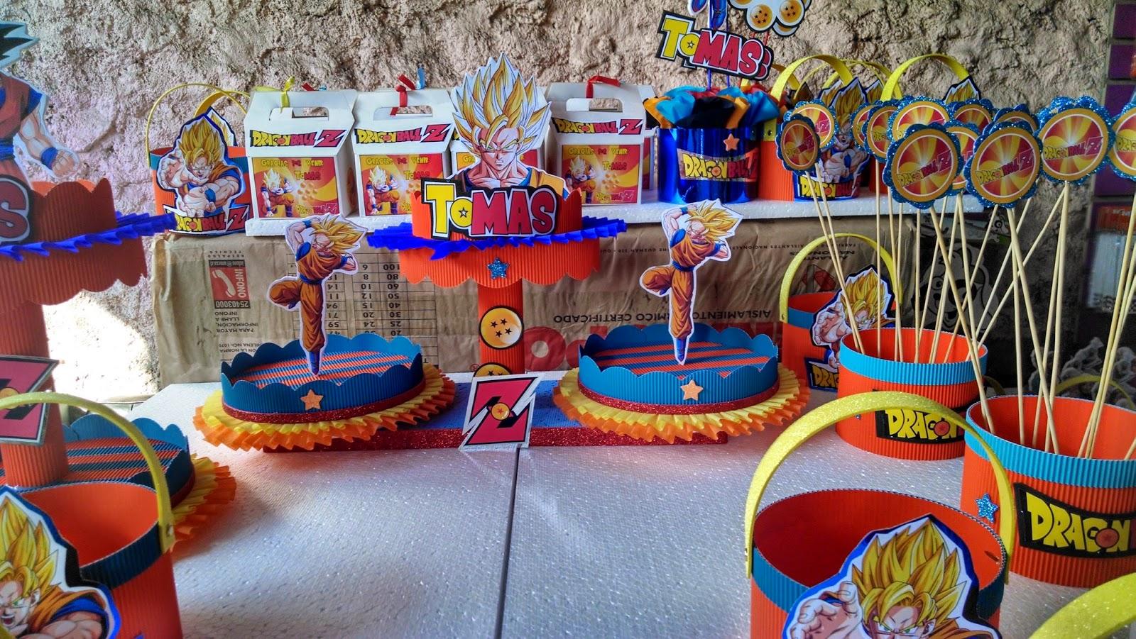 Decoraciones infantiles dragon ball z - Decoracion de mesa de cumpleanos ...