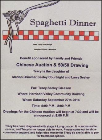 9-27  Spaghetti Dinner Benefit