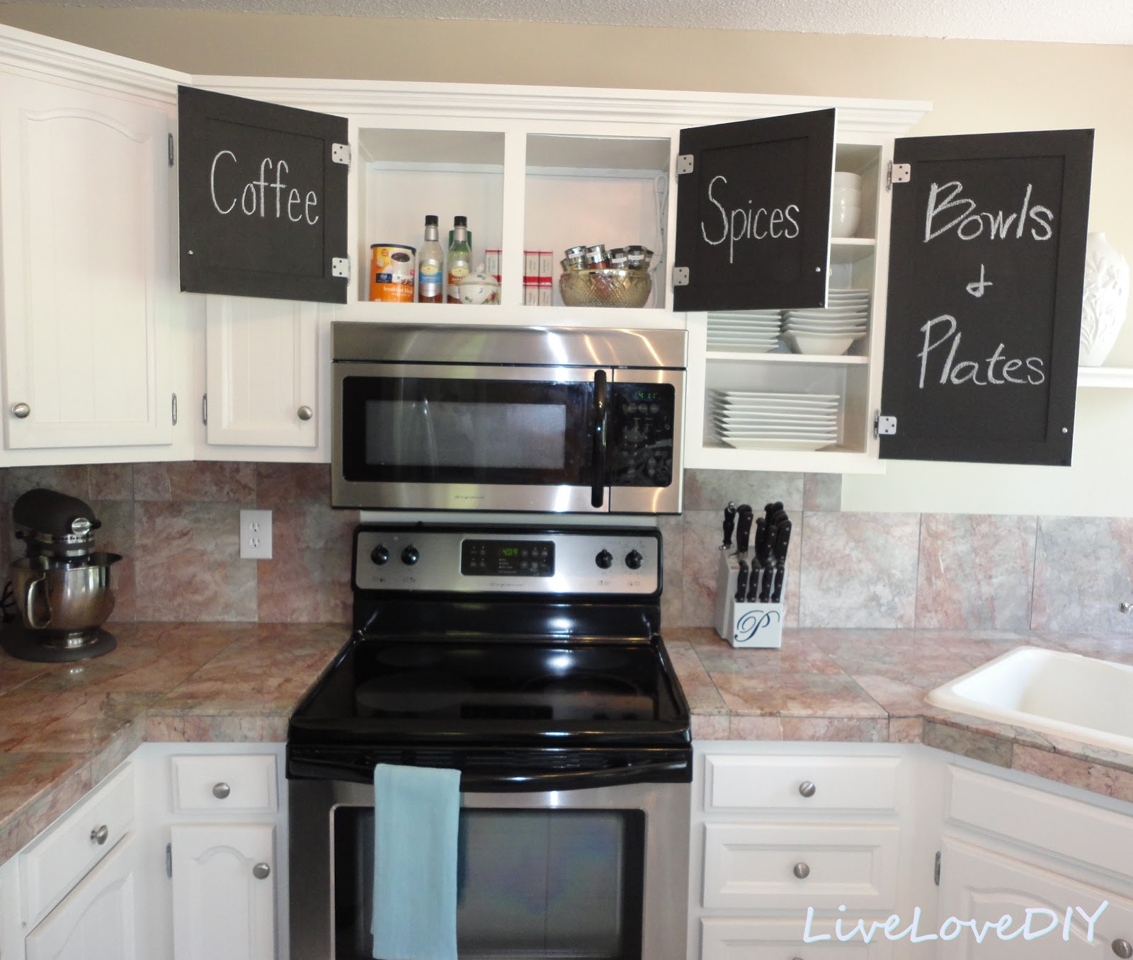 Kitchen Cabinet Chalk Paint Makeover Creative Home