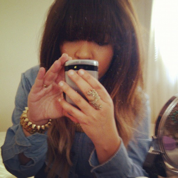 bangs ombre hair