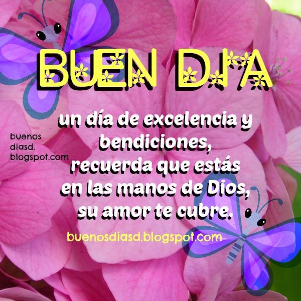 Mensaje cristiano buenos días para ti y para mí, saludos de buen día por Mery Bracho, imagen cristiana con bonito mensaje para amigos.