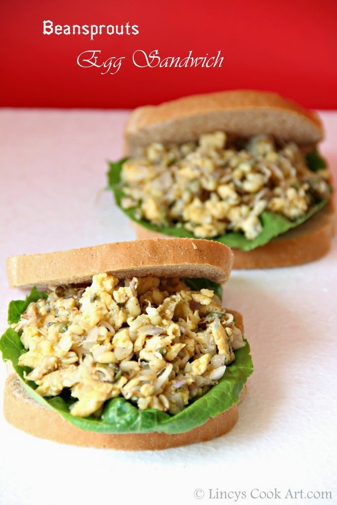 Beansprouts Egg Sandwich