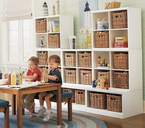 Storage ideas for kids bedrooms home decorating ideas for Shelving for kids room