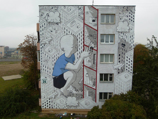 Millo is currently exploring Eastern Europe where he spent some time in Belarus painting on the streets of Minsk.