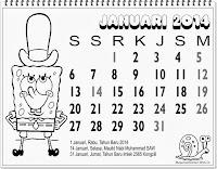kalender lengkap 2014 untuk anak januari