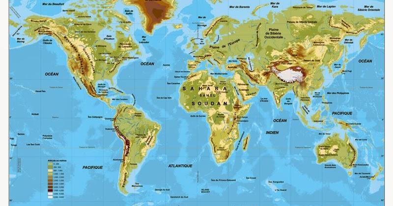 Mapa f sico del mundo mapa del mundo for Mapa del mundo decoracion