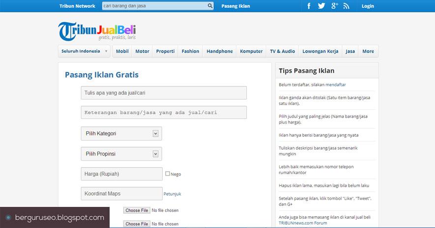 sudah tersedia banyak sekali tempat atau situs untuk  3 Situs Terbaik Pasang Iklan Online Gratis di Indonesia