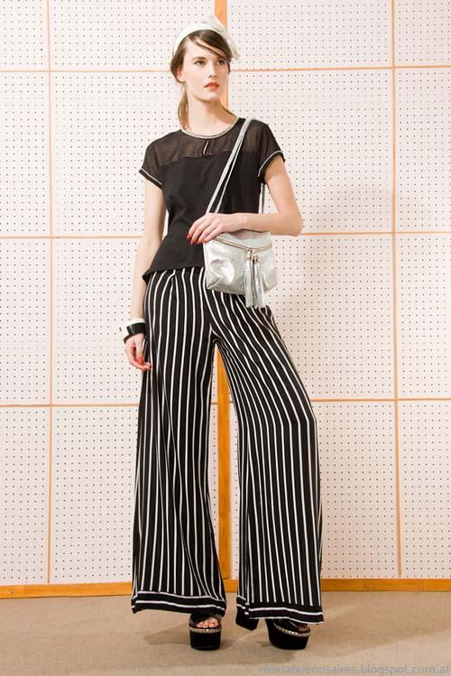 Moda rayas 2014 ropa de mujer marca las Pepas.