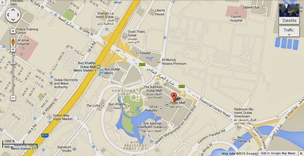 Dubai Ice Rink Location Dubai Ice Rink Location Map