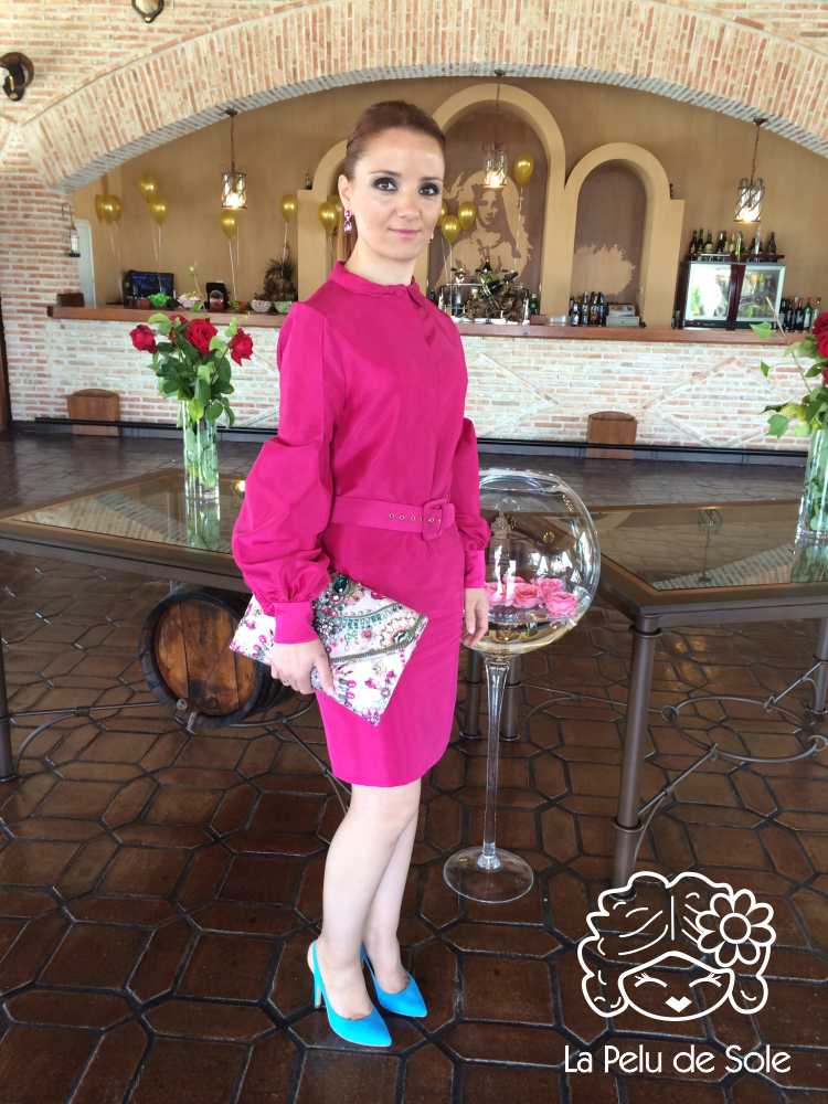 Vestido Gucci Rosa Fucsia