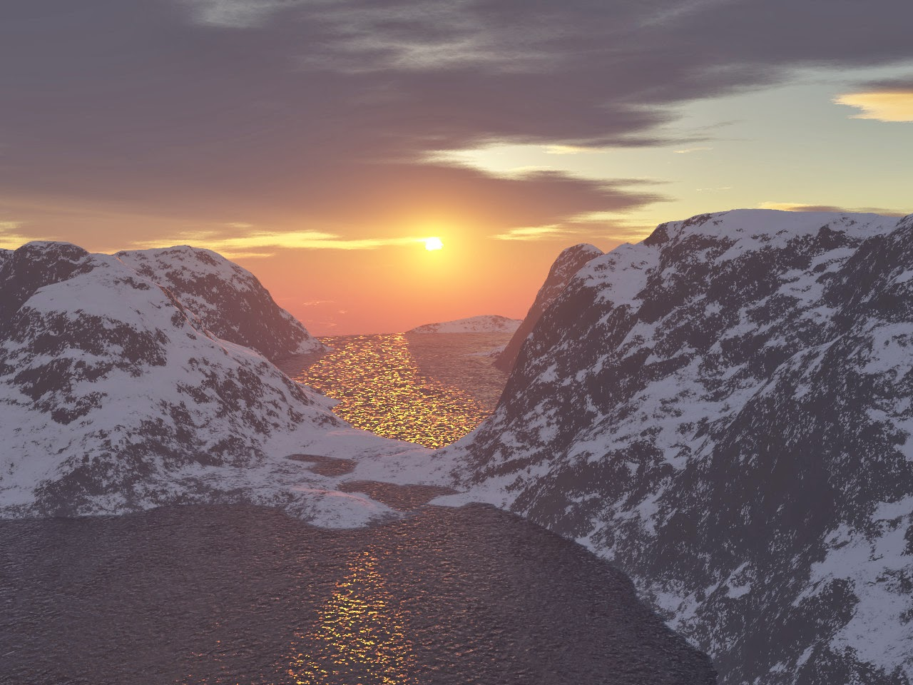 Snowy Mountains Wallpaper Sunset | www.imgkid.com - The ...