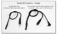 Wired IR Emitters - Single Unit, and Expansion Unit
