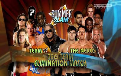WWE SummerSlam 2010 Barrett Ryback Gabriel Young Tarver Slater Otunga vs Cena Edge Jericho Morrison R-Truth Hart
