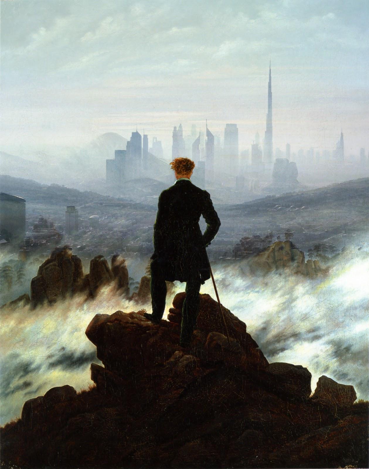 simon max bannister artist wanderer above the city of fog. Black Bedroom Furniture Sets. Home Design Ideas