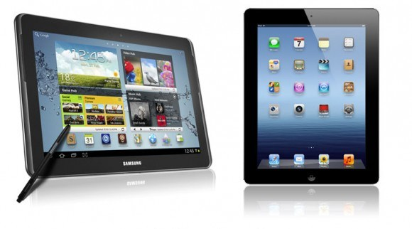 samsung galaxy note tab vs the new ipad 3 n8000 10.1