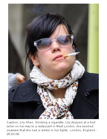 lily allen smoking