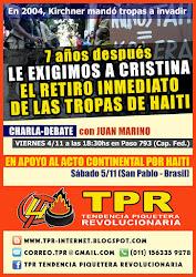 ACTO CONTINENTAL POR LA RETIRADA DE LAS TROPAS DE HAITI