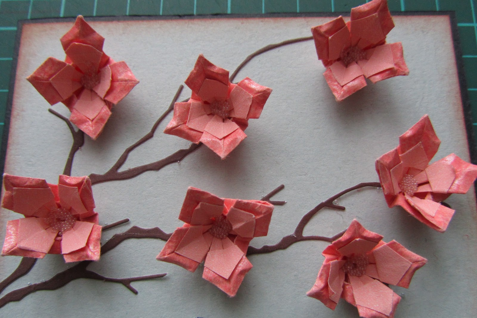 оригами из бумаги цветок сакуры схема