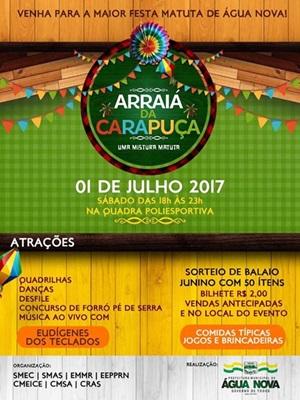 ARRAIÁ DA CARAPUÇA - 01 DE JULHO 2017