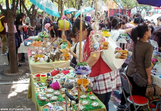 Puestos de venta en el Free Market de Seúl