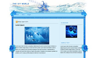 The Icy World Blogger Template