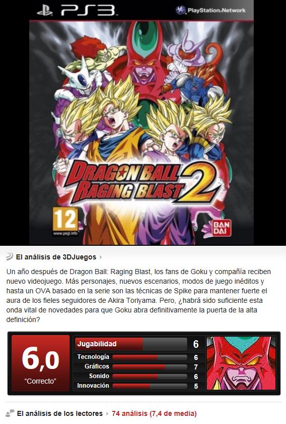 Dragon Ball Raging Blast 2 [Multi][3.55][PS3]