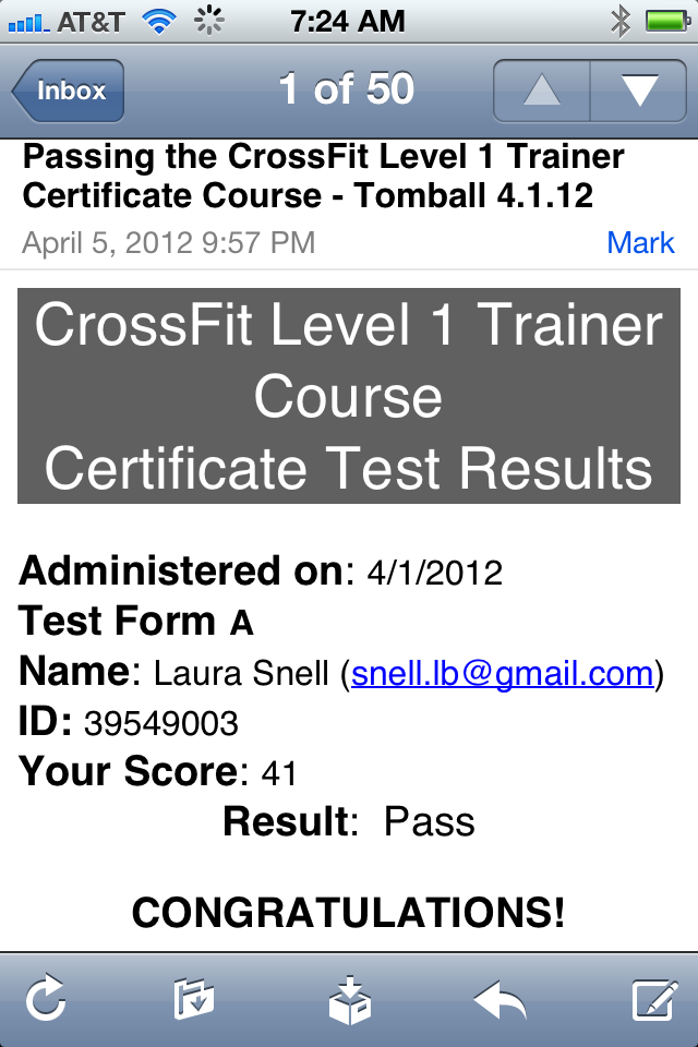 CrossFit Level 1 Certification-Tomball