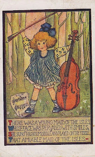 Young Maid of the Isles - Vintage Limerick Postcard