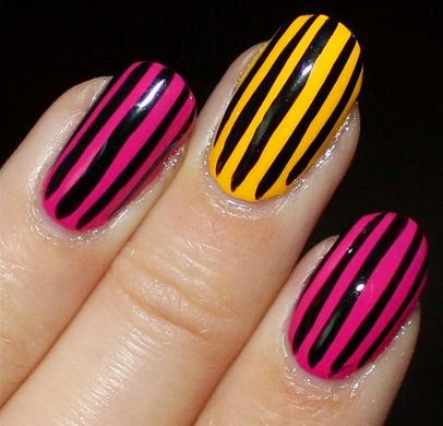 Nails with stripes