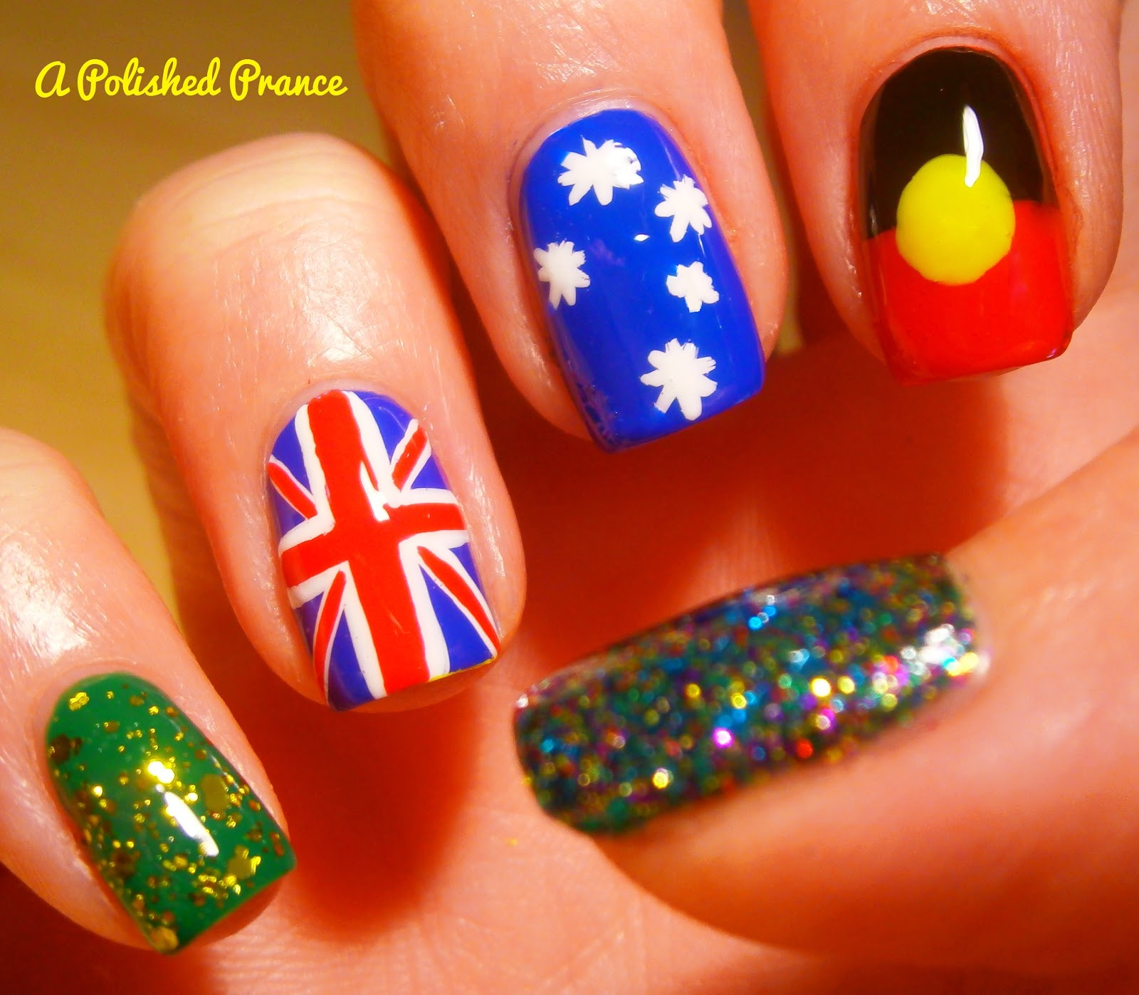 27 awesome nail art designs for australia day blogger prinsesfo Gallery