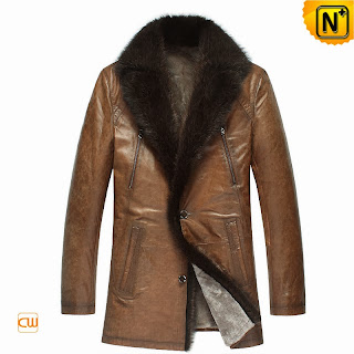 Sheepskin Fur Leather Coat